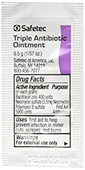 Triple Antibiotic Ointment .5gr Packets  Box of 144