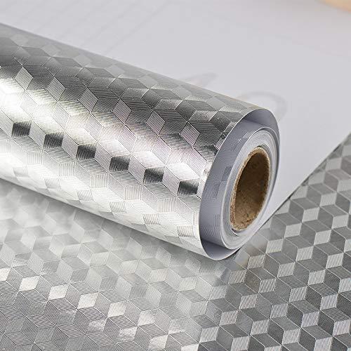YUE Wandaufkleber-Selbstklebende Aluminiumfolie Aufkleber Öl Proof Wasserdichte Küchenherd Aufkleber 0 6 MT * 1 MT,0.6M*1M-B