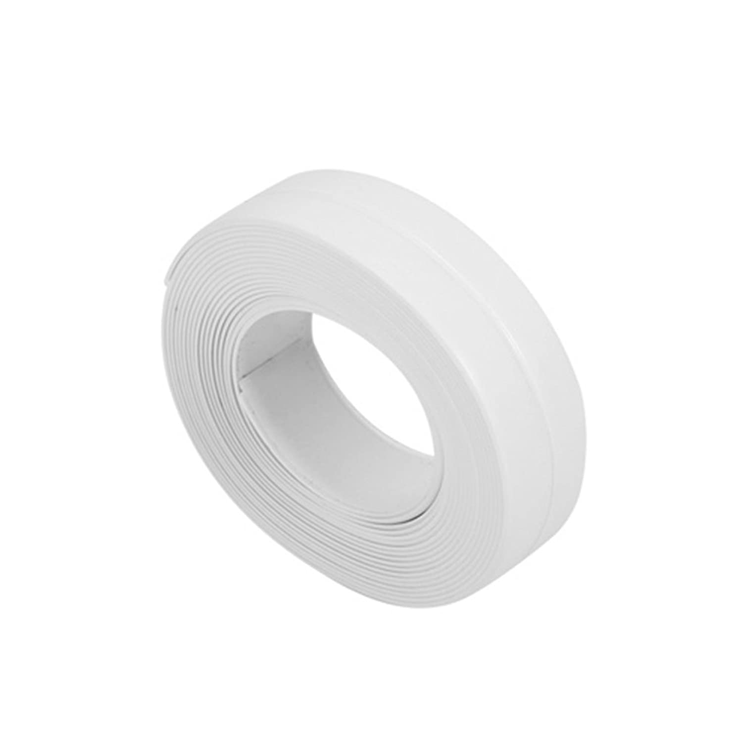 Gilroy Strip Calk Sealing Tape for Tub Wall Kitchen Bathroom, Decorative Trim, Waterproof Mold Bumper PVC Adhesive Tape, Proof Corner Line size 22mm (White)