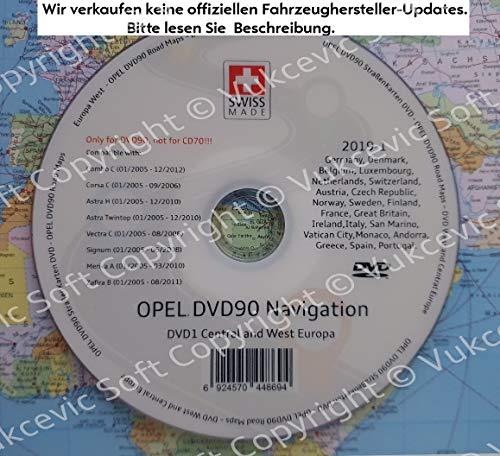 Opel DVD90 Navigation Strassenkarten DVD 2019