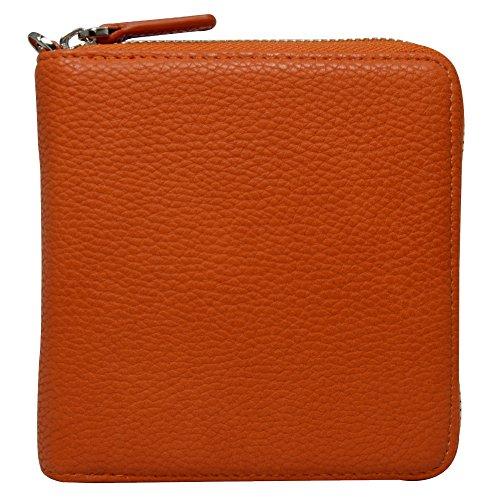 アイコス専用ケース ヒートスティック収納可 クリーナー 収納可 財布型 カード入れ 内側 マグネット式 ケース (オレンジ)