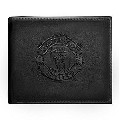 Manchester United FC - Cartera oficial con el escudo grabado - Negro