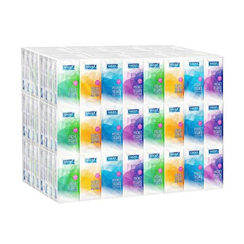 Premium Facial Tissues, Travel and Pocket Size, Bulk (192 Packs), 10 Tissues per Pack (1,920 Tissues Total)