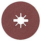 Bosch Professional Expert - Discos de lija de fibra (para metales, X-LOCK, R444, Ø115 mm, grano 80, diámetro del orificio: 22,23 mm)