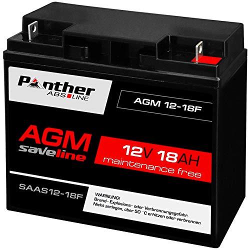 Panther Akku AGM 18Ah 12V Bleiakku USV Batterie USV statt Gelakku 20Ah 19Ah 17Ah