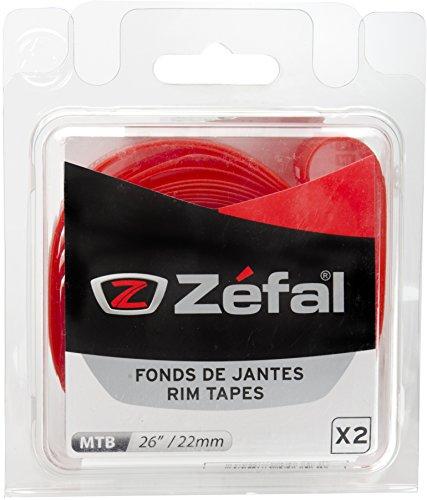 """ZEFAL Soft PVC Blíster 2 Cintas Llantas, Unisex, Rojo, 26""""-18 mm"""