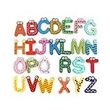 DONGMAISM Etiqueta de Madera imán 26 del Alfabeto Intelligence Development Juguete niños de los niños magnética Aula (Color : 26pcs