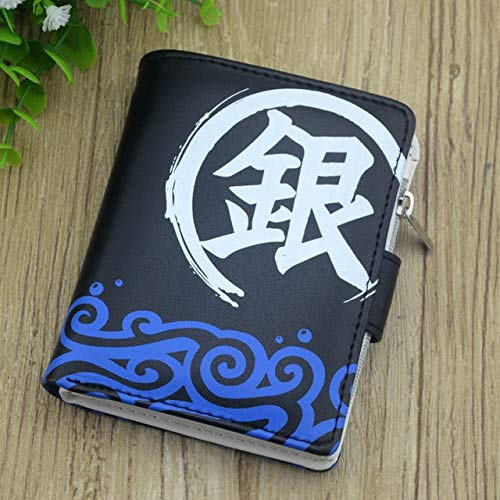 Xiaobing Anime around soft leather wallet anime short simple wallet men and women youth wallet -Gintama-D343