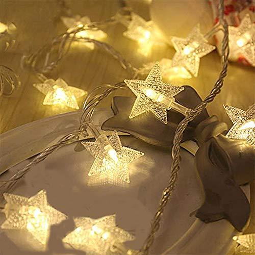 LED Lichterkette Sterne mit 20 LED'S batteriebetrieben Weihnachtsbeleuchtung LED Dekoration