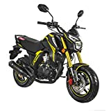 X-PRO KP Mini 150 Gas Motorcycle 150cc Adult Motorcycle Moped Scooter Street Motorcycle Bike Assembled Made by Lifan,Yellow