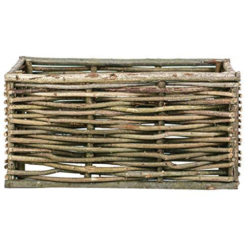 Susany Garten-Hochbeet Holzbeet Balkonhochbeet Terrassenbeet Pflanzgefäß Gemüsebeet Pflanzkübel Holz-Pflanzkübel Blumenbeet Pflanzkasten 80x40x40 cm Haselnussholz