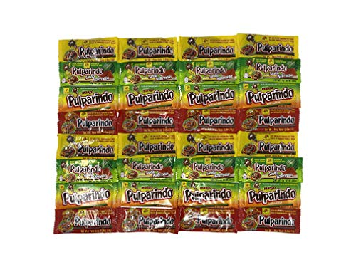 Bulk Pulparindo Mix (32 Count) - All The Mexican Favorites - Try Them All - Mango, Tamarindo, Sandia and Extra Hot