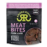 Raised Right Pork Meat Bites, Single Ingredient Liver Treats for Dogs & Cats - 5 oz. Bag