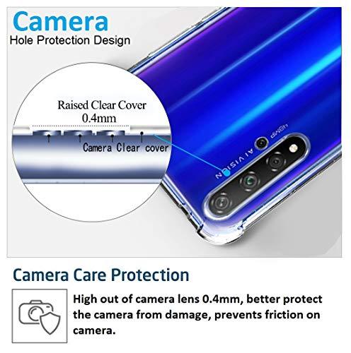 Ferilinso Hülle Kompatibel mit Huawei Nova 5T/ Honor 20, Ultra [Slim Thin] Kratzfestes TPU Gummi Weiche Haut Silikon Fall Schutzhülle für Huawei Nova 5T/ Honor 20 Hülle (Transparent) - 3