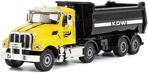 FF Bau-Fahrzeug-Kipper-Mischer-Schnee-Auto-Kasten-LKW-Metallmodell (Farbe   Gelb)