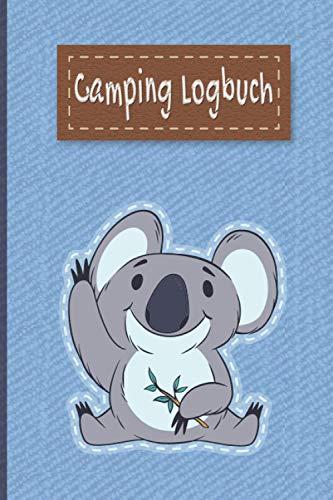 Camping Logbuch: Liebevoll gestaltetes Camping Logbuch Reisetagebuch - Für Camper ein schönes Tagebuch Journal Zelt Caravan Notizbuch Erlebnisbuch / Panda Bär Jeans