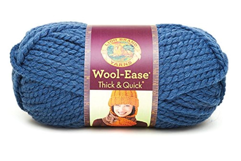 Lion  640-114B Wool-Ease Thick & Quick Yarn , 97 Meters, Denim