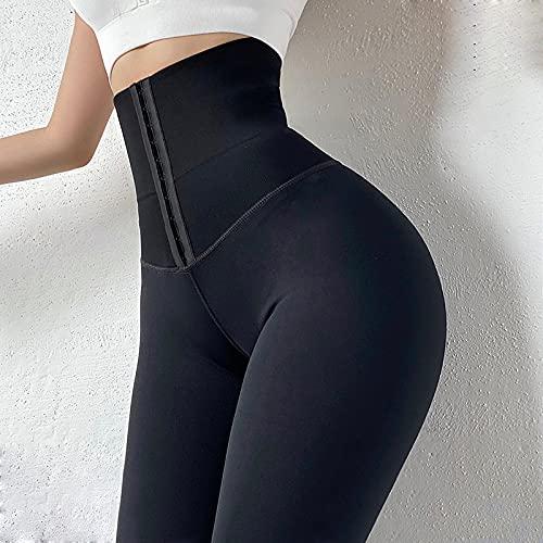 YUHOOE Leggings De Cintura Alta para Mujer Fitness Sport Push Up Pantalones De Yoga Entrenamiento Sexy Correr Pantalones De Gimnasia Correr Medias De Control De Barriga Anticelulitis,Negro,M