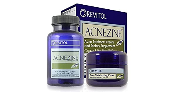 Revitol Acnezine Acne Treatment Supplement And Cream Kit 5 Pack