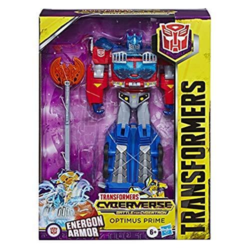 Transformers Cyberverse Ultimate-klass Optimus Prime actionfigur — kan kombineras med Energon Armor för mer kraft — för barn från 6 år, 22,5 cm