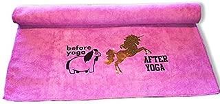 The Vogue Yogi Funny Microfiber Yoga Gym Towel Namaste Bitches