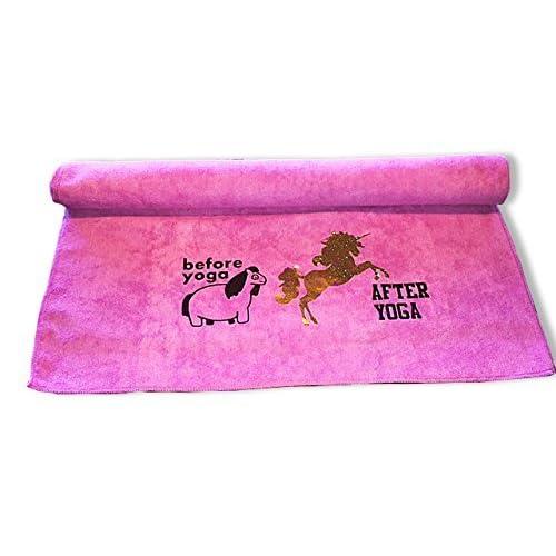 Amazon.com : The Vogue Yogi Funny Microfiber Yoga Gym Towel ...