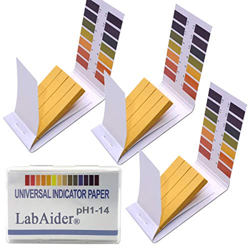 3 Pack pH.1- 14 Test Paper Extensive Test Paper Litmus Test Paper 240 Strips pH Test with Storage Case for Saliva Urine Water Soil Testing Pet Food and Diet pH Monitoring (3 Pack with Storage Case)