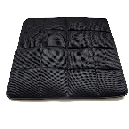 DGQ Natural Bamboo Charcoal Non-Slip Seat Cushion 17.7' 17.7'- Home Office Car Chair Cover Pad Mat (Pack of 1,Black)