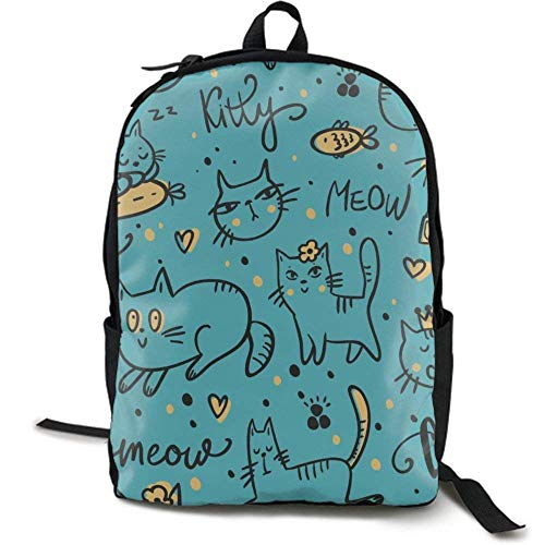 XCNGG Mochila de impresión de fotograma Completo para Adultos Mochila Informal Mochila Mochila Escolar NiYoung Casual Large College School Daypack - Laptop Outdoor Backpack Cute Leisurely Cats Kitten
