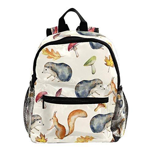 Mochila preescolar para niños pequeños y niñas, con correa para el pecho, dinosaurios dibujados a mano