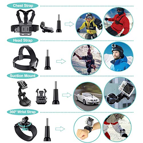 Product Image 4: 61 in 1 Action Camera Accessories Kit for GoPro Hero 9, 8, 7, 6, 5, and 4.