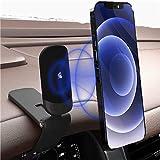 【2021最新デザイン】 スマホ車載ホルダー 車載ホルダー クリップ式 マグネット 超強磁力 ダッシュボード 片手操作 デスクにも適用 スマホスタンド 車 全機種対応 【12ヶ月安心保障】