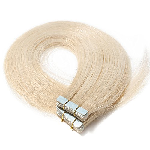 Extensiones Adhesivas de Cabello Natural Pelo Humano Tape in Hair Extensiones Remy...