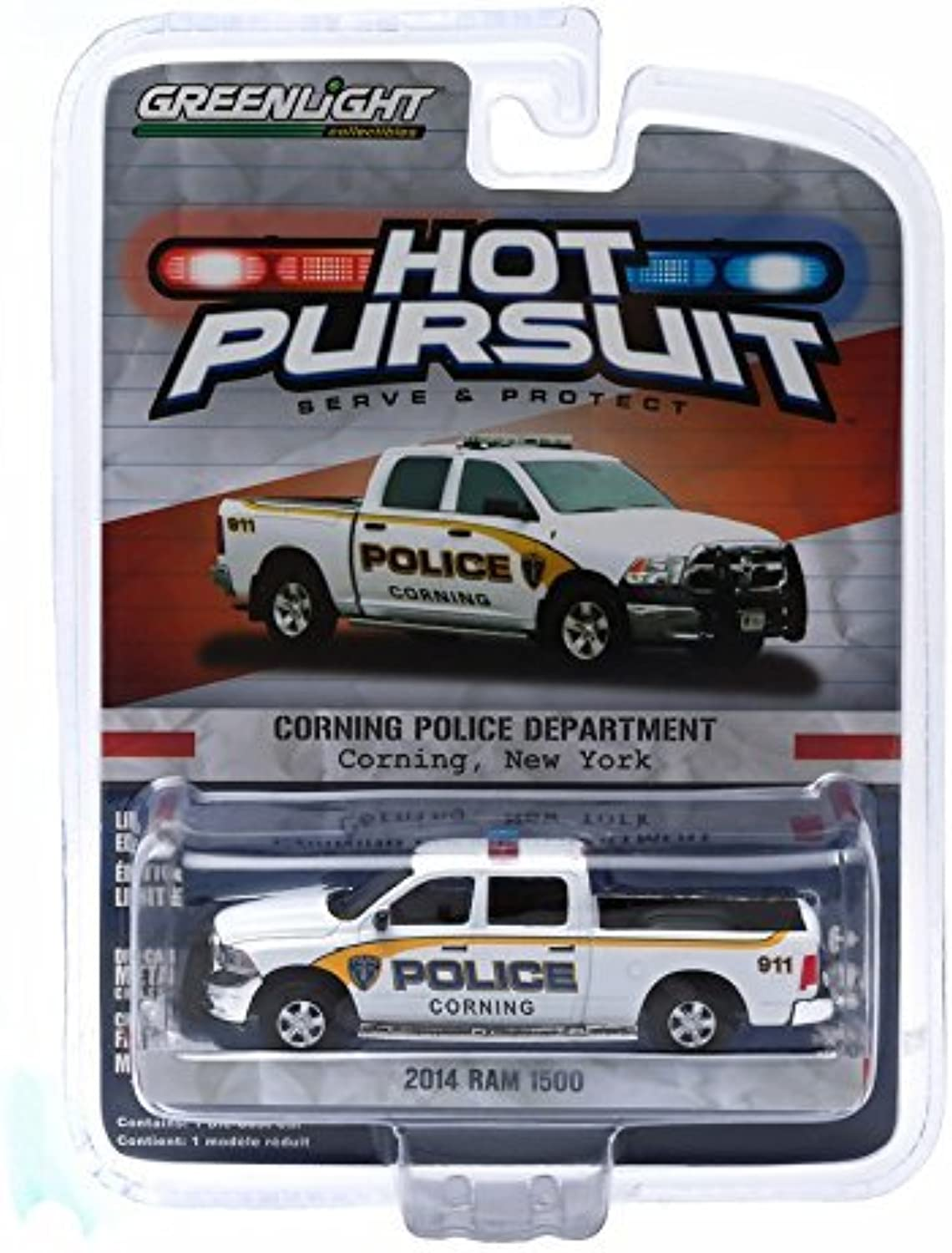Greenlight 1 64 Hot Pursuit Series 16 2014 Dodge Ram 1500 Corning New York Police by Greenlight