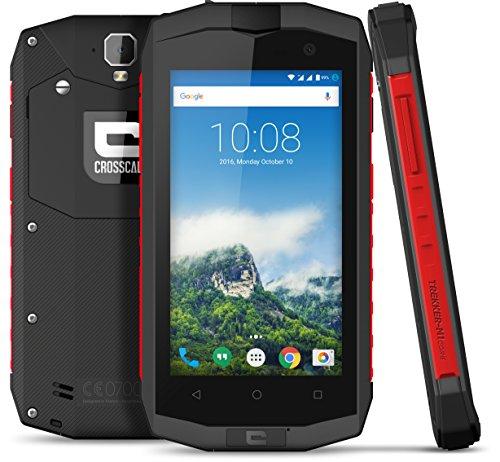 Crosscall Trekker-M1 Core Smartphone débloqué 4G (Ecran : 4,5 pouces - 16 Go - Dual Micro-SIM - Android) Noir/Rouge