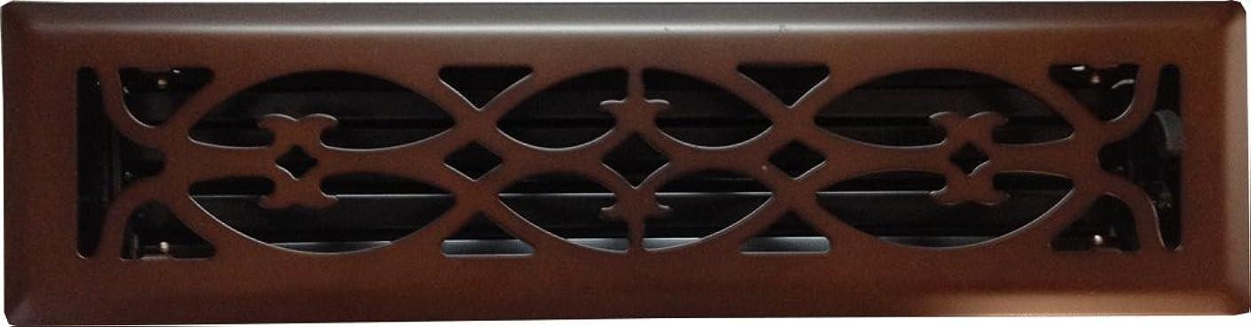 Victorian Oil Rubbed Bronze Floor Register (2