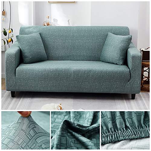 WXQY Funda de sofá elástica con patrón Cruzado Estiramiento Fundas de sofá Todo Incluido para Sala de Estar Funda de sofá Loveseat Fundas de sofá A7 4 plazas