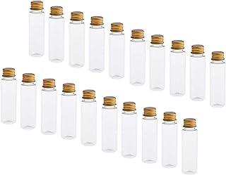P Prettyia 約20本 化粧ボトル トラベル 小分け容器 アルミスクリューキャップ 4色選べ - クリアゴールドキャップ