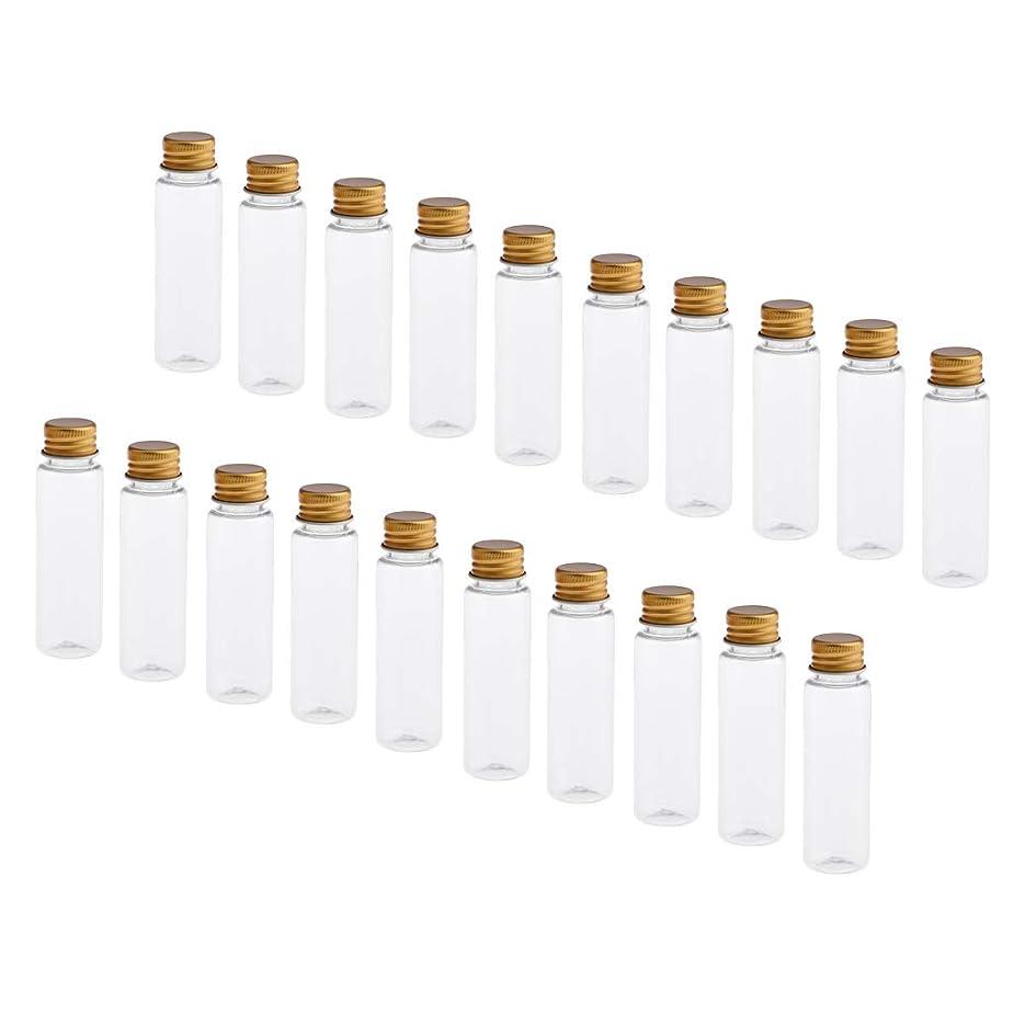 うまくやる()推定定期的Perfeclan 約20本 化粧ボトル 空ボトル メイクアップボトル 詰替え容器 小分け容器 精油瓶 空瓶 全4色 - クリアゴールドキャップ