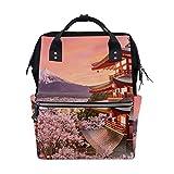 Fujiyoshida Japón Cherry bolsa de pañales mochila para mamá papá, bolso de viaje, escolar, niño, niña, gran capacidad, para mamá, hombres y mujeres
