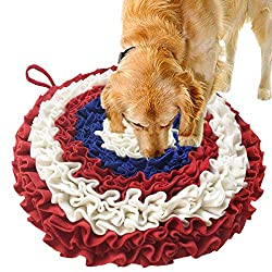 AB AttaBoy Interactive Dog Toys- Pet Snuffle Mat, Dog Puzzle Toys, Encourages Natural Foraging Skills for Cats Dogs,Activity Fun Play Mat for Relieve Stress Restlessness(Upgraded)
