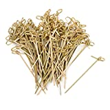 Vancool 4 Inch Bamboo Knot Cocktail Spiedi Knotted Spiedini, 200 pezzi, Twisted End...