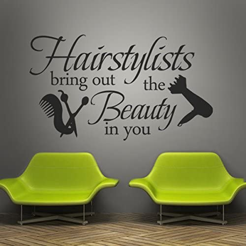 Vinyl Wall Lettering Words Wall Quotes Salon Wall Decal Hair Salon Wall Sticker Wall Mural Wall product image