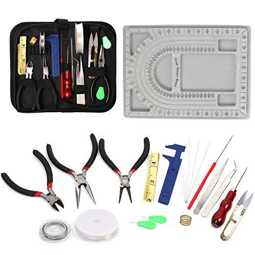 QY 23-teiliges Schmuck-Reparatur-Set, Schmuckherstellung-Set mit Perlen-Design, Schmuck-Werkzeug, Schmuck-Draht für Ohrringe, Perlen, Armbänder, Halsketten, Bastelprojekte