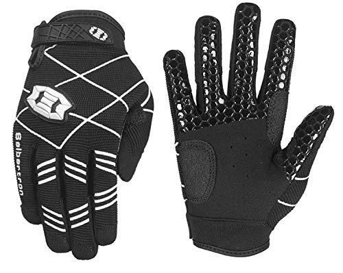 Seibertron B-A-R PRO 2.0 Signature Baseball/Softball Schlagmann Batting Handschuhe Gloves Super Grip Finger Fit for Jugend/Kinder Black XL