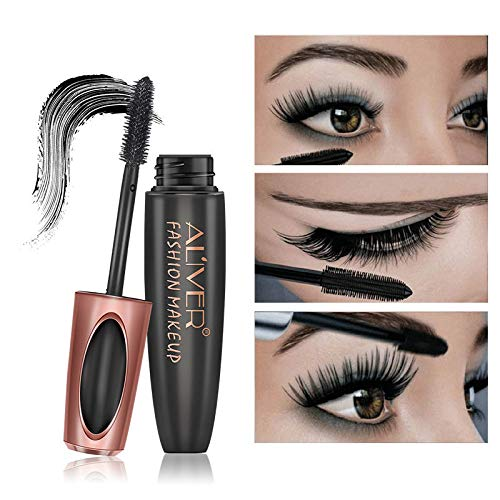 Aliver Black 3D Silk Fiber False Lash Mascara Waterproof Long-Lasting...