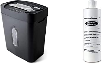 $69 » Aurora AU1230XA Anti-Jam 12-Sheet Crosscut Paper and Credit Card Shredder with 5.2-Gallon Wastebasket & SL16 Professional Grade Synthetic Shredder Oil, 16 Oz Flip-Top Leak Proof Bottle
