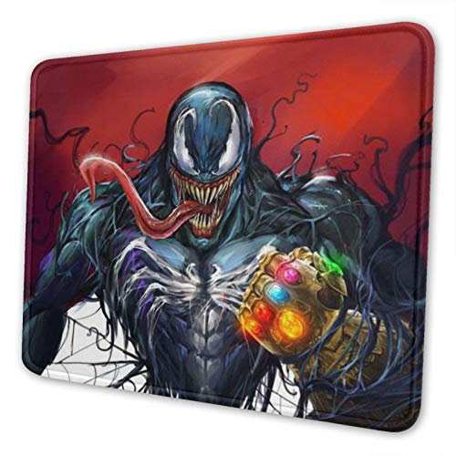 Superhero Mouse Pad Ve-nom Mouse Pad Mouse Pad Rubber Base 3D Custom Design Personalized Office Gaming Anime Mouse Mat for Computer/Laptop 10×12in