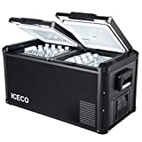 ICECO VL Pro Series Portable Refrigerator, Multi-directional Lid, Dual USB & DC 12/24V, AC 110-240V, Steel Compact Refrigerator Powered by SECOP, 0℉ to 50℉, Home & Car Use [Upgrade]