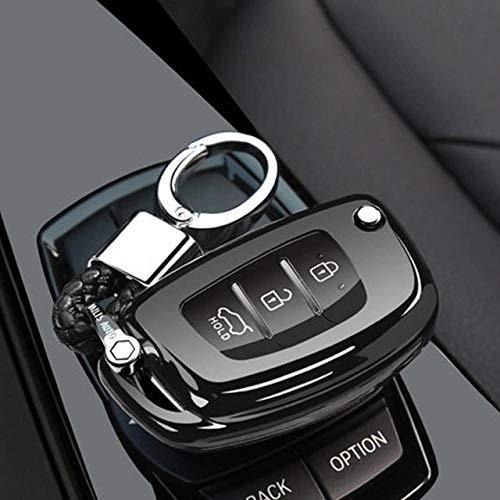 YHJGKO Caso Clave 3 Botones TPU Llave del Coche para Estuche para Hyundai Creta I10 I30 HB20…
